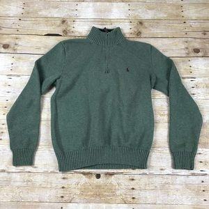 Polo By Ralph Lauren Zip Up Heavy Knit Sweater